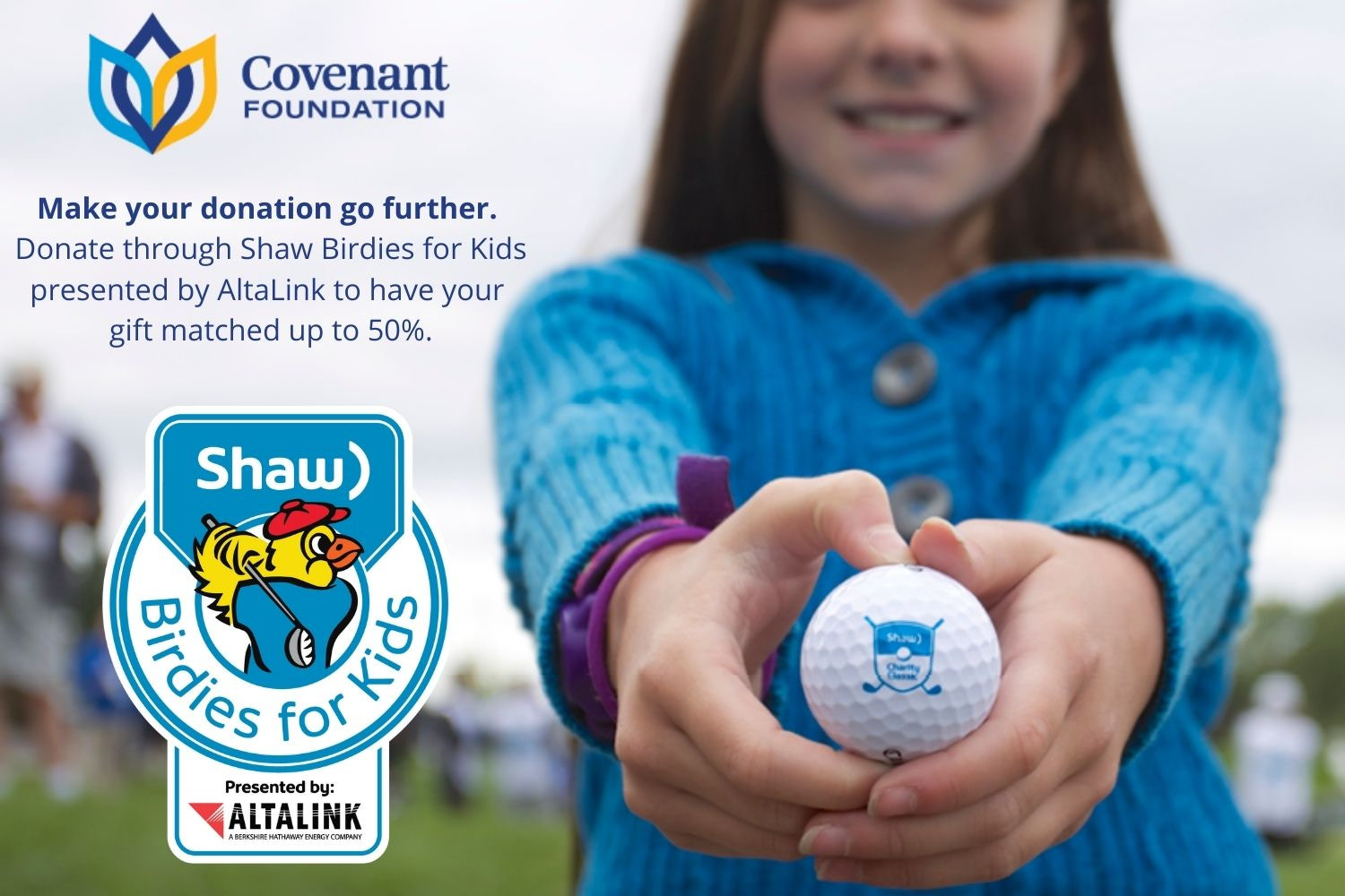 Make your donation go further with Shaw Birdies for Kids presented by AltaLink